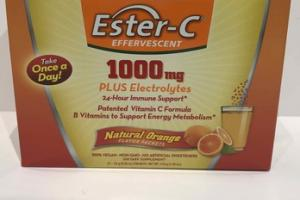 ESTER-C EFFERVESCENT 1000MG PLUS ELECTROLYTES DIETARY SUPPLEMENT, NATURAL ORANGE