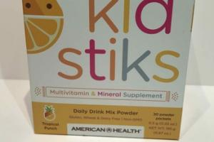 KID STIKS DAILY DRINK MIX MULTIVITAMIN & MINERAL SUPPLEMENT POWDER PACKETS, TROPICAL PUNCH