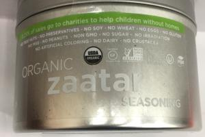 Organic Zaatar Seasoning