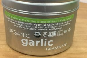 Organic Garlic Granulate