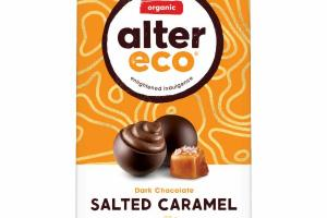 DARK CHOCOLATE SALTED CARAMEL TRUFFLES