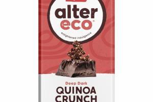 DEEP DARK LIGHT NUTTY TOASTED QUINOA CRUNCH ORGANIC CHOCOLATE