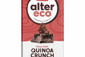 DEEP DARK LIGHT NUTTY TOASTED QUINOA CRUNCH ORGANIC CHOCOLATE