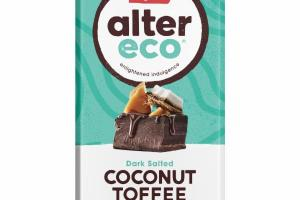 ORGANIC CHOCOLATE TOASTY BUTTERY CRUNCH DARK SALTED COCONUT TOFFEE