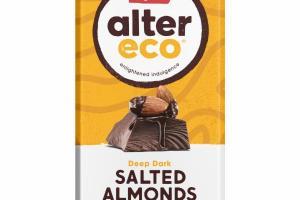 DEEP DARK SALTED ALMONDS ORGANIC CHOCOLATE