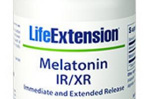 Melatonin Ir/xr Dietary Supplement