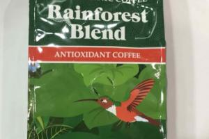 RAINFOREST BLEND 100% ORGANIC ANTIOXIDANT  GROUND COFFEE