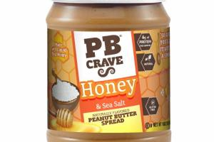 HONEY & SEA SALT NATURALLY FLAVORED PEANUT BUTTER SPREAD