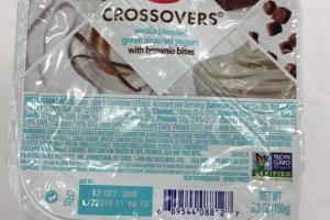 Vanilla Blended Greek Strained Yogurt With Brownie Bites