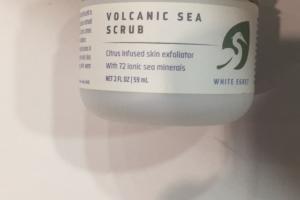 Volcanic Sea White Egret Scrub