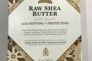 BAR SOAP, RAW SHEA BUTTER