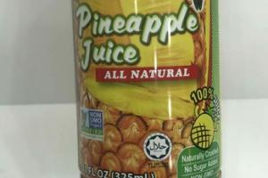 ALL NATURAL PINEAPPLE  JUICE