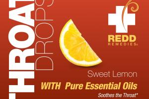 Throat Drops, Sweet Lemon With Pure Essential Oils Dietary Supplement