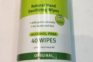 Natural Hand Sanitizing Wipes, Original
