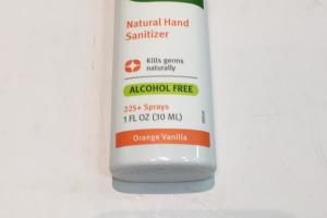 Natural Hand Sanitizer, Orange Vanilla