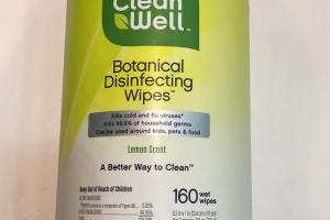 Botancial Disinfecting Wipes, Lemon Scent
