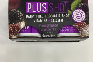 Probiotics Plus Shot Juice Drink From Concentrate