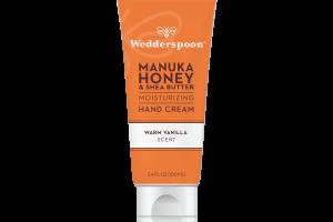 Manuka Honey & Shea Butter Moisturizing Hand Cream, Warm Vanilla Scent