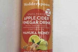 GINGER TURMERIC LEMON DETOX UNFILTERED APPLE CIDER VINEGAR DRINK
