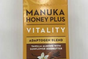 VANILLA ALMOND WITH SUNFLOWER SEEDBUTTER HONEY PLUS VITALITY ADAPTOGEN BLEND