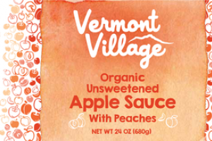 ORGANIC UNSWEETENED APPLE SAUCE WITH PEACHES