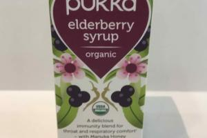 ORGANIC ELDERBERRY SYRUP HERBAL SUPPLEMENT