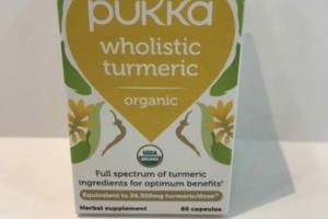 ORGANIC WHOLISTIC TURMERIC HERBAL SUPPLEMENT CAPSULES