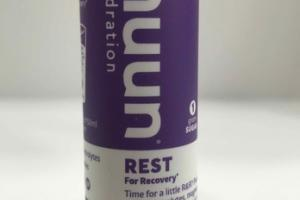 REST FOR RECOVERY HYDRATION EFFERVESCENT MAGNESIUM SUPPLEMENT TABLETS, BLACKBERRY VANILLA