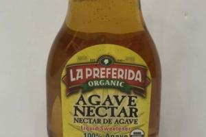 ORGANIC 100% AGAVE NECTAR LIQUID SWEETENER