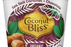 ORGANIC SEA SALT CARAMEL + CHOCOLATE 100% PLANT BASED DAIRY-FREE FROZEN DESSERT