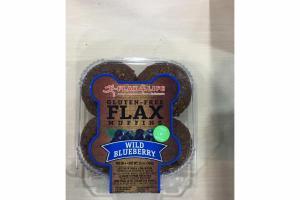 WILD BLUEBERRY GLUTEN-FREE FLAX MUFFINS