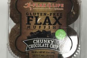 CHUNKY CHOCOLATE CHIP GLUTEN - FREE FLAX MUFFINS