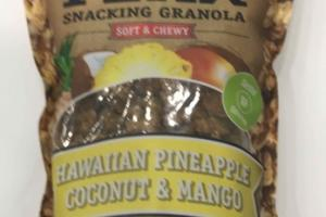 HAWAIIAN PINEAPPLE COCONUT & MANGO SOFT & CHEWY SNACKING GRANOLA