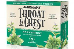 MENTHOL COUGH SUPPRESSANT ORAL ANESTHETIC LOZENGES, PEPPERMINT