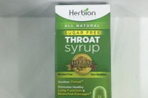 Throat Syrup Dietary Supplement