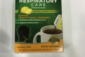 RESPIRATORY CARE HERBAL GRANULES DIETARY SUPPLEMENT SACHETS, NATURAL LEMON