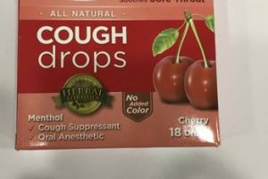 MENTHOL COUGH SUPPRESSANT DROPS, CHERRY
