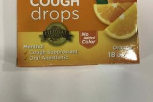 ALL NATURAL SUGAR FREE COUGH DROPS, ORANGE