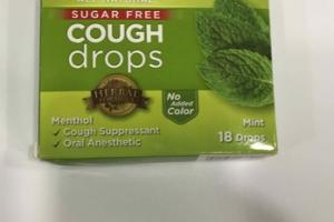 ALL NATURAL SUGAR FREE COUGH DROPS, MINT