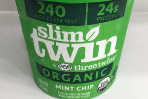 Organic Low Fat Mint Ice Cream With Chocolate Flecks