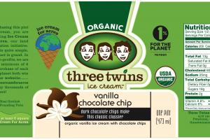 VANILLA CHOCOLATE CHIP ORGANIC ICE CREAM WITH CHOCOLATE CHIPS