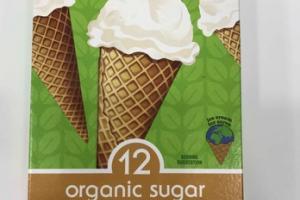 ORGANIC SUGAR CONES ICE CREAMS