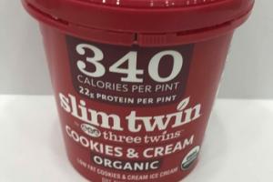 ORGANIC LOW FAT COOKIES & CREAM ICE CREAM