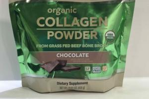 ORGANIC COLLAGEN POWDER DIETARY SUPPLEMENT, CHOCOLATE
