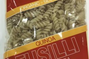 ORGANIC GLUTEN FREE QUINOA FUSILLI PASTA