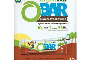 CHOCOLATE BROWNIE ORGANIC WHOLE GRAIN ENERGY SNACK BARS