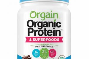 CREAMY CHOCOLATE FUDGE PLANT BASED PROTEIN POWDER & SUPERFOODS