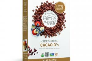 SPROUTED CACAO O'S, TOASTY ORGANIC WHOLE-GRAIN CEREAL WITH RICH CACAO