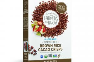 SPROUTED BROWN RICE CACAO CRISPS RICH AND TOASTY ORGANIC BROWN RICE CEREAL WITH CACAO
