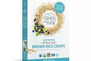 GLUTEN FREE SPROUTED BROWN RICE CRISPS